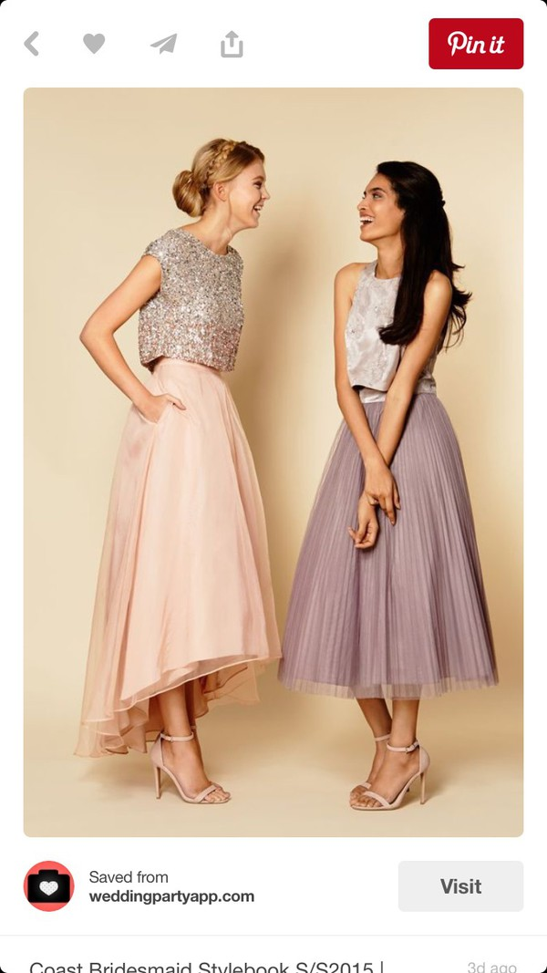 ec30a74f dress sparkly top sparkly top and skirt two pieces bridesmaids dresses  blush bridesmaids dresses a line