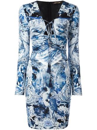 dress women print blue