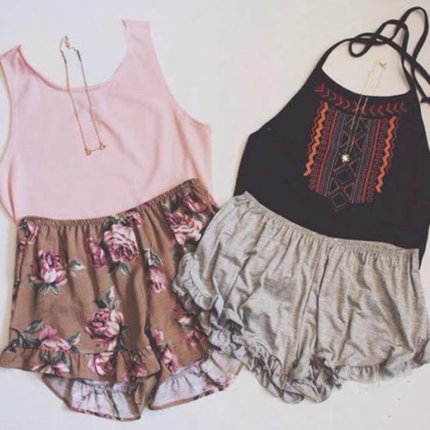 shirt shorts tank top