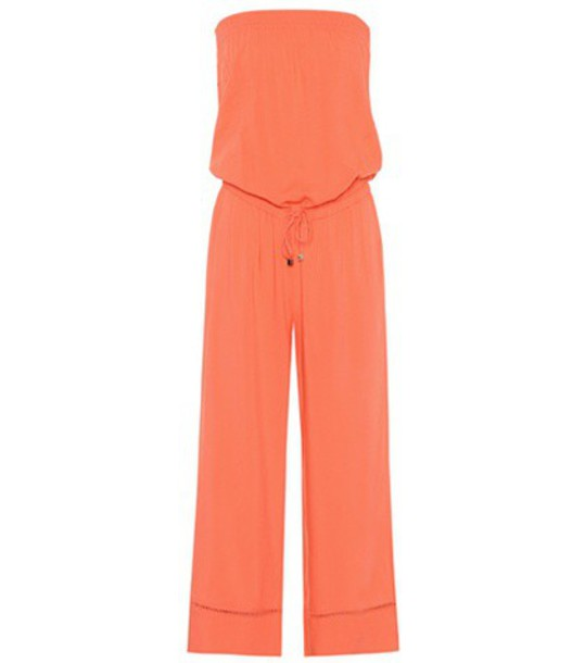 Heidi Klein jumpsuit strapless orange