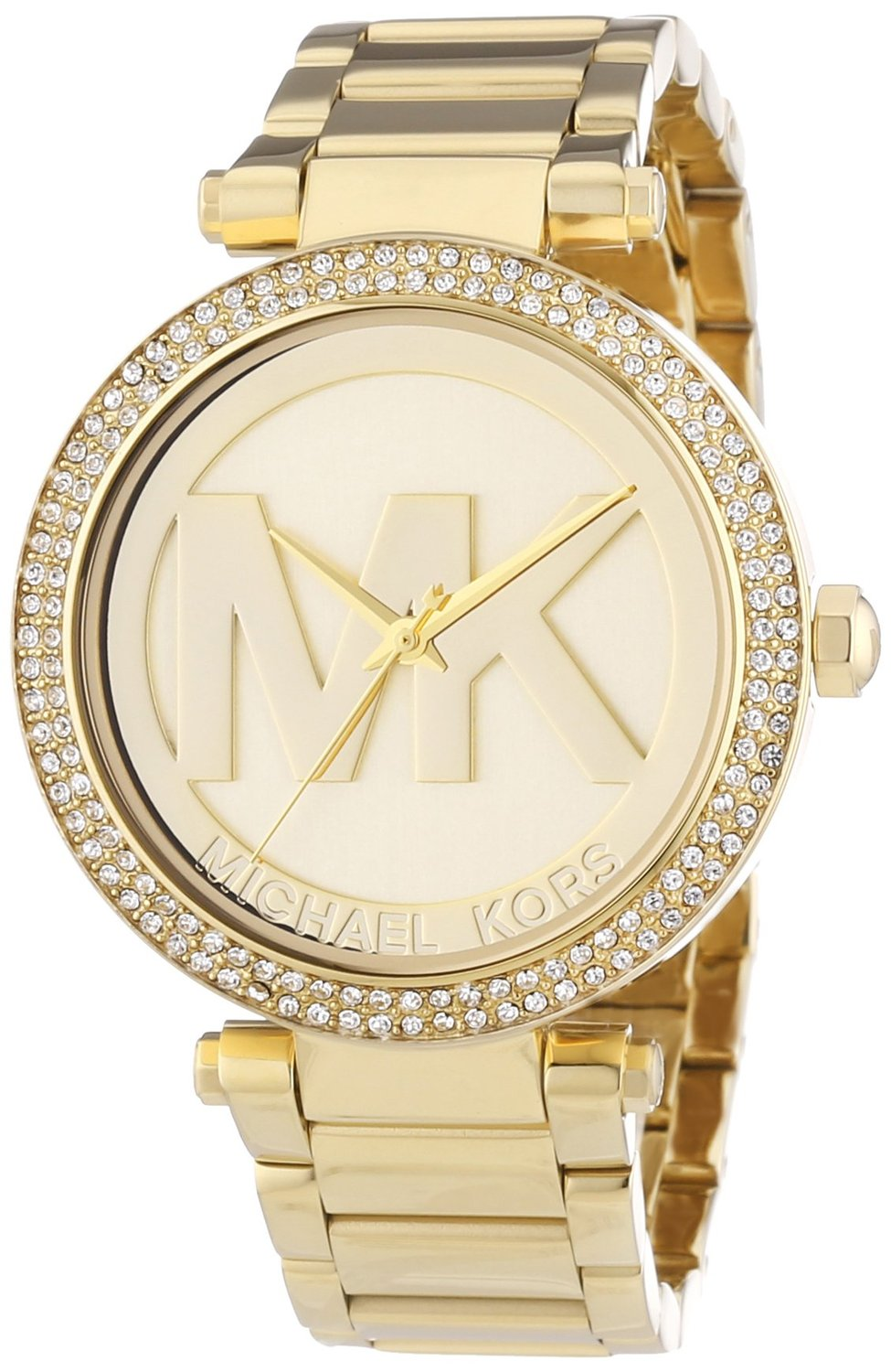 Amazon.com: Michael Kors MK5784 Ladies All Gold Logo Parker Watch: Watches