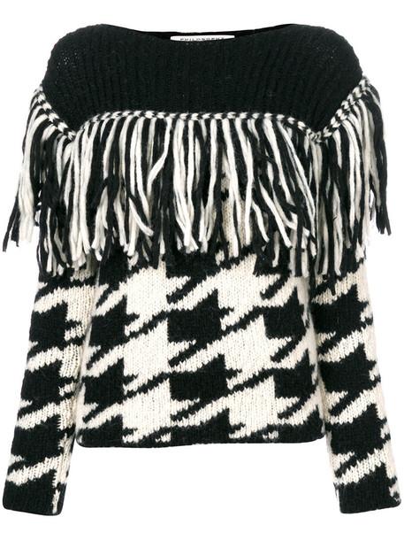 Philosophy di Lorenzo Serafini jumper women black wool houndstooth sweater