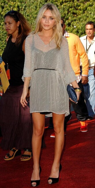 dress mary kate olsen ashley olsen clothes see through dress nude sheer cover up beaded dress