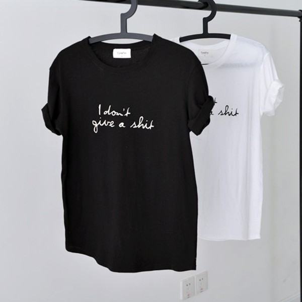 t-shirt women t shirts cute black white top writing cursive shirt quote on it
