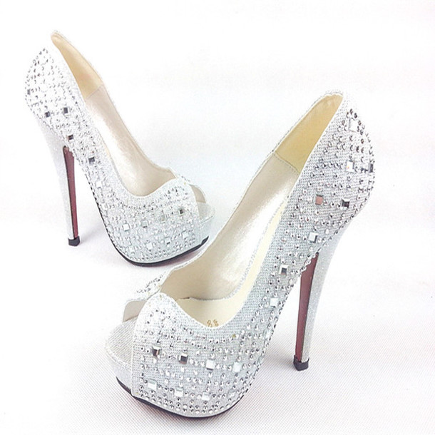 silver heels with red bottoms ,christian laboutin shoes ,what ...