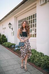 shoes,southern curls and pearls,blogger,skirt,pants,bag,chanel bag,sandals,spring outfits