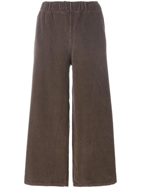 Labo Art cropped women cotton brown pants