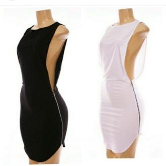 dress little black dress black dress zipper dress side boob dress side boob