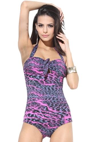 swimwear halter neck backless one piece swimsuit padded bikini padded swimsuit summer summer outfits printed swimsuit zaful