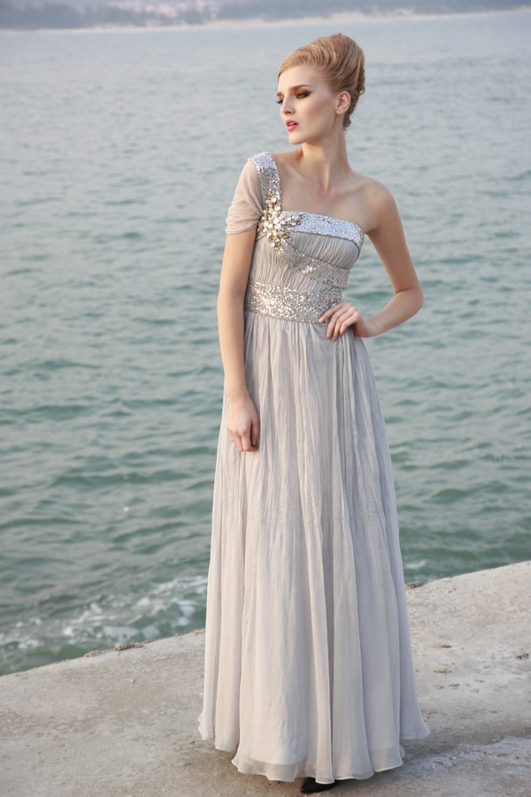 dress embellished dress grey dress evening dress a line prom gowns elliot claire london
