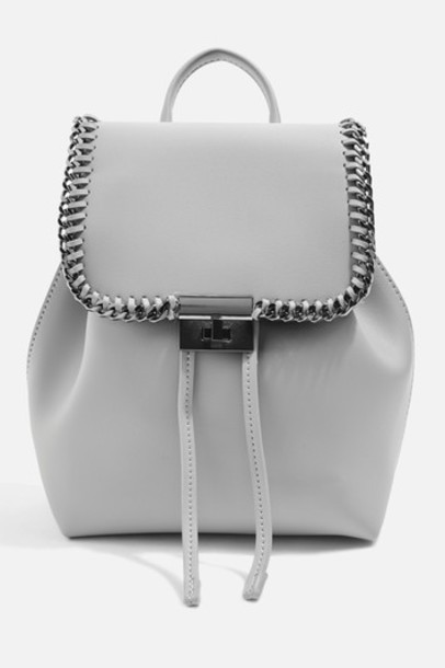 Topshop mini backpack grey bag