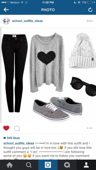 shirt gray gray sweaters gray hoodie sweater style knitted sweater oversized sweater grey sweater sweater/sweatshirt heart hearts design fall outfits fall sweater fall jacket fall winter outfits fall coat winter outfits winter sweater winter coat winter jacket winter swag warm winter coats