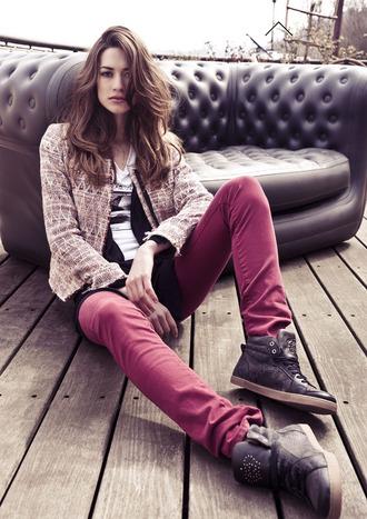 jacket ikks fashion lookbook shoes pants t-shirt