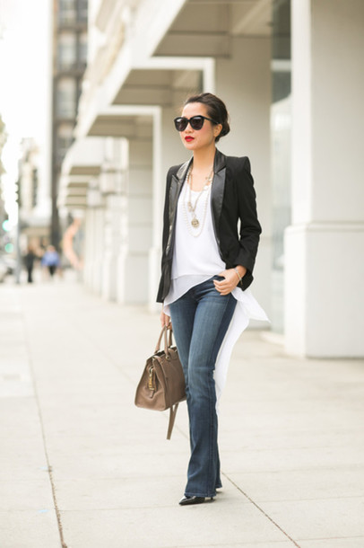 wendy's lookbook t-shirt jacket shoes bag sunglasses jewels