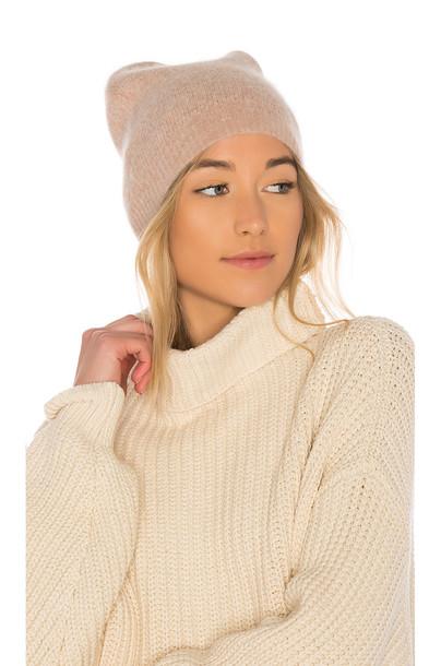 360CASHMERE Zen Wool Beanie in beige / beige