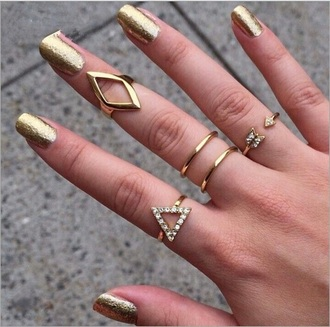 jewels rings and tings ring knuckle ring jewelry boho jewelry boho boho chic boho dress diamonds gold midi rings cute style pretty