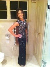 dress,blue,prom dress,sequin dress