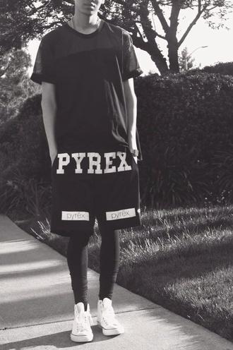 shorts black fashion pyrex pyrexvision pyrex vision justin bieber tightfit