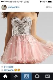 dress,pink dress,prom dress,crystals dresses,homecoming dress,short dress,prom,pink prom dress,diamonds,sparkle,sparkly dress,short,fashion,rhinestones,short prom dress,diamods,girl,pink,cute,sweet,lovely,mini