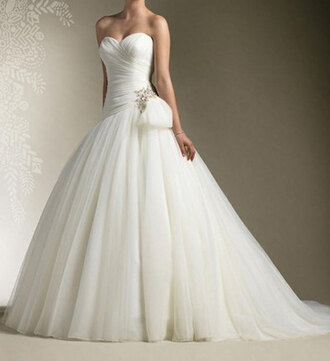 white wedding dress organza wedding dress bride ball gown dress