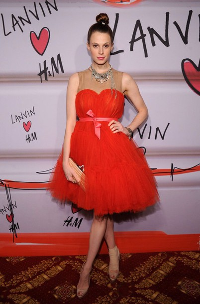 H&m Lanvin Red Dress Tulle