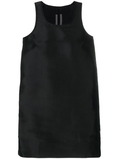 Rick Owens - A-line sleeveless top - women - Silk - 42, Black, Silk