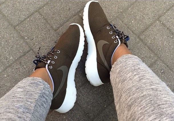 shoes nike rushe run army green roshe runs khaki nike sneakers