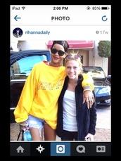 sweater,rihanna,sportswear,yellow,sweatshirt,cute,fashion,blogger