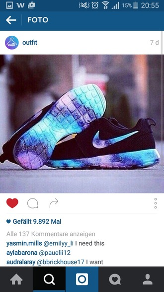 shoes galaxy print nike nike shoes