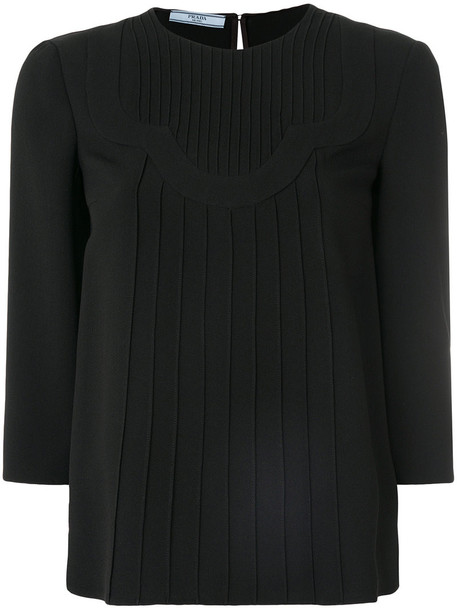 Prada top knitted top women black