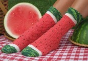 underwear,socks,cute socks,shoes,watermelon print,summer,cute