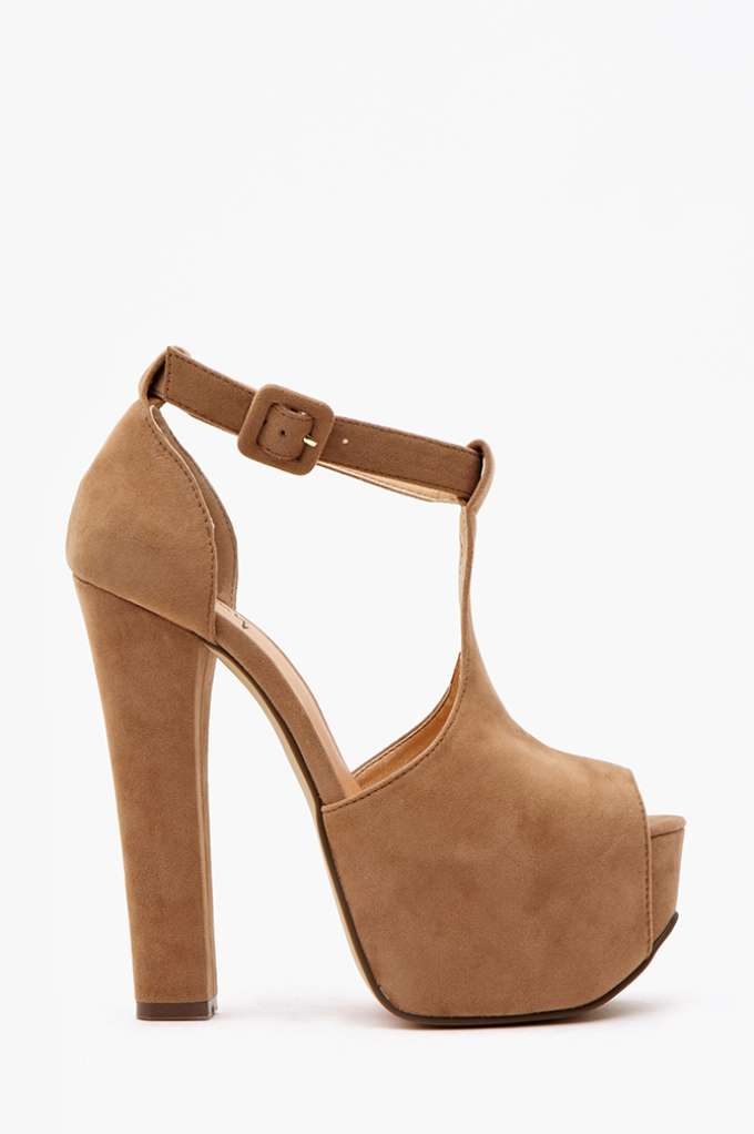 Hathaway Platform - Camel | Shop Heels at Nasty Gal