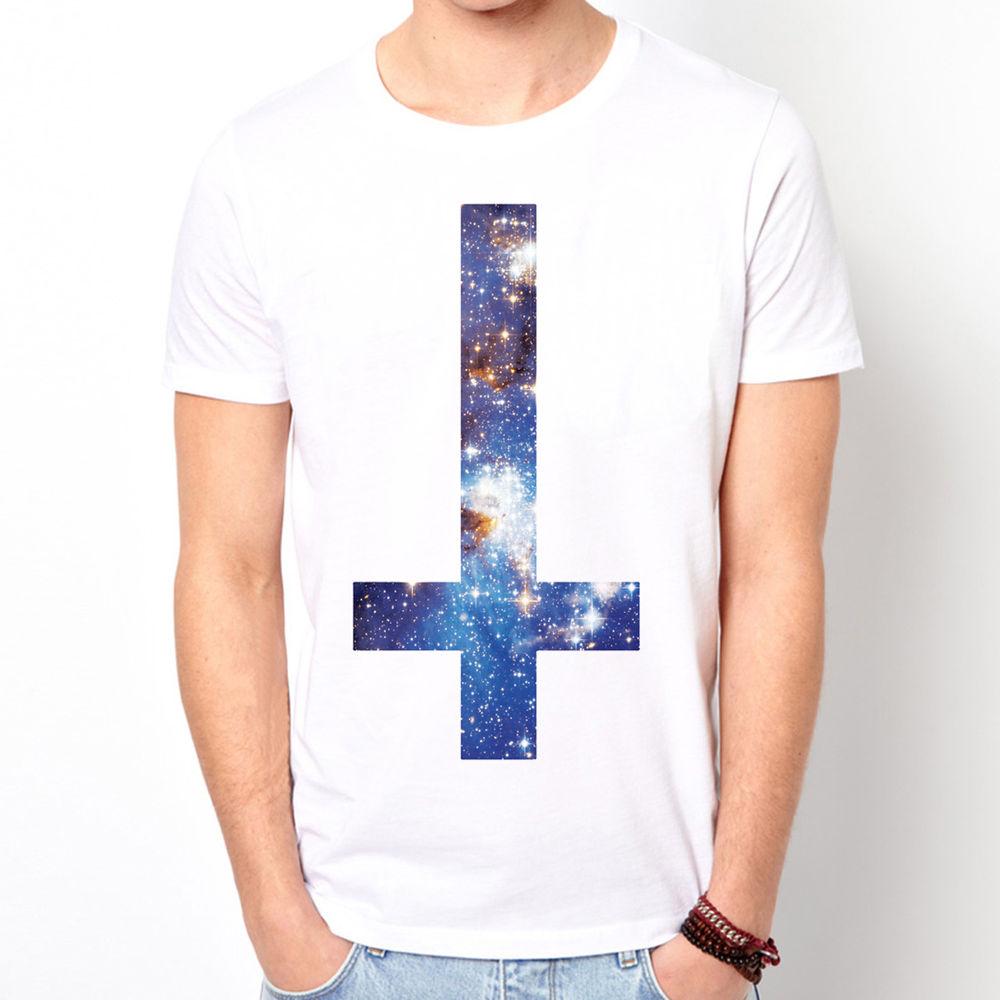 Inverted Cross Galaxy 2 Cosmic Space Stellar Universe Symbol White T Shirt | eBay