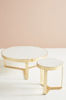 White Marble Lirit Coffee Table