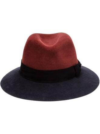 hat fedora red