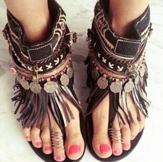 shoes hippie boho brown