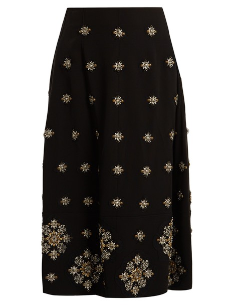 Elizabeth and James skirt midi skirt midi embellished black