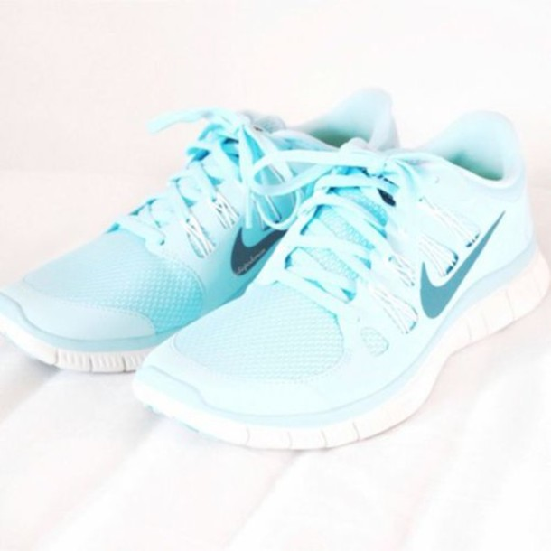 huge discount f13c3 011f1 shoes blue nike free run light blue nike running shoes cute nikes trainers  nike green running