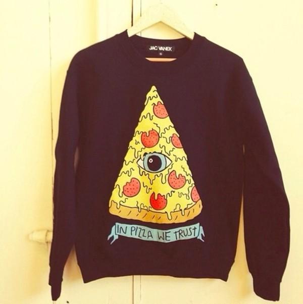 sweater pitza pizza pizza sweatshirt top blouse