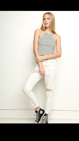 jeans white white jeans ripped jeans brandy melville