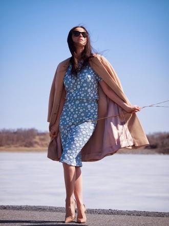 bittersweet colours coat t-shirt skirt shoes sunglasses