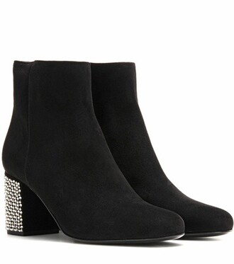 suede ankle boots embellished boots ankle boots suede black shoes