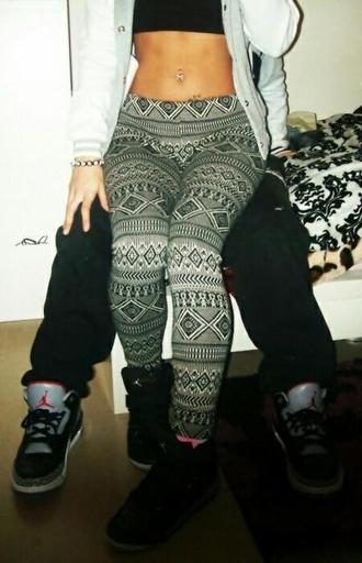pants tribal pattern leggings aztec pattern