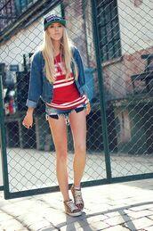 meri wild,t-shirt,jacket,shorts,bag,jewels,shoes,hat