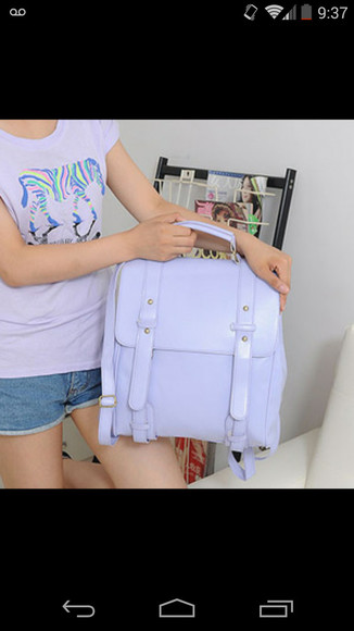 bag school bag backpack koren korean purple pastel purple vintage korean bag kawaii harajuku preppy asian asian style korean style japanese japanese style japanese bag fully baby mine hey
