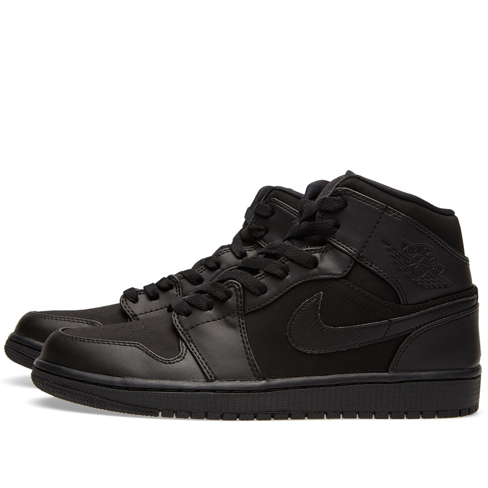 49627d33f1ed Nike Air Jordan 1 Mid  Triple Black