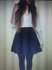 skirt,cute,black,black skirt,medium length skirt