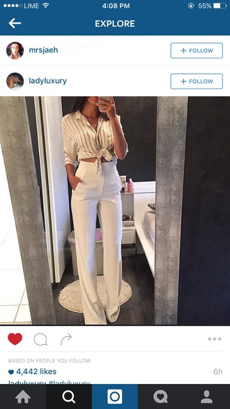 pants white long pants white jeans jeans formal white trousers eleagnt high waisted ivory bootleg bell bottoms white high waist bell bottom pants