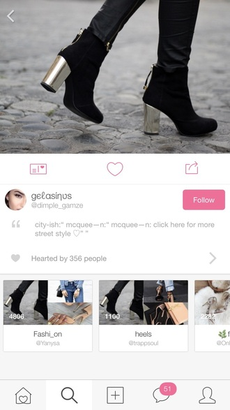 shoes boots black boots booties gold gold heels heels black heeled lace up boots gold shoes nice cute