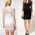 Lace Slim Flower V-Neck 3/4 Sleeve Dress - iNDULGE in Fashion, LLC